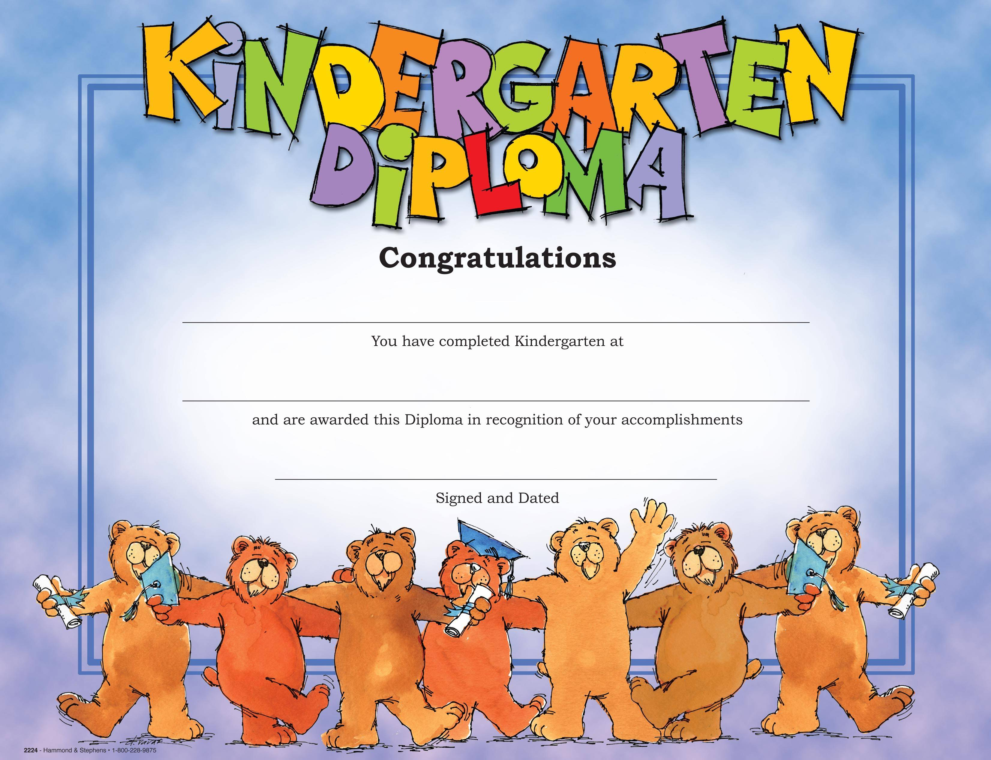 Diplomas Templates Kindergarten Preschool Diplomas Templates