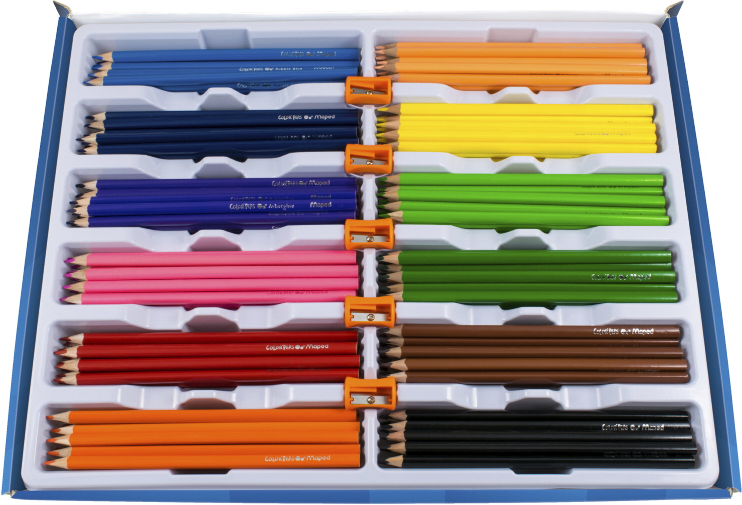 Maped Color'Peps Triangular Colored Pencils Classroom Pack, Assorted Colors, 240 Pieces