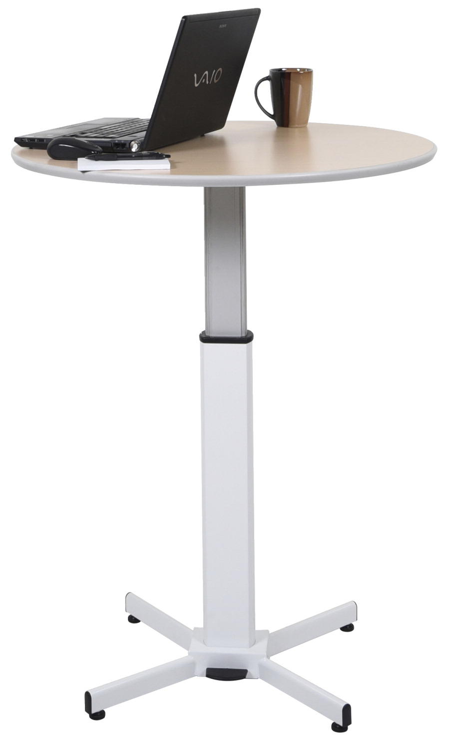 Luxor Pneumatic Adjustable Round Pedestal Table School