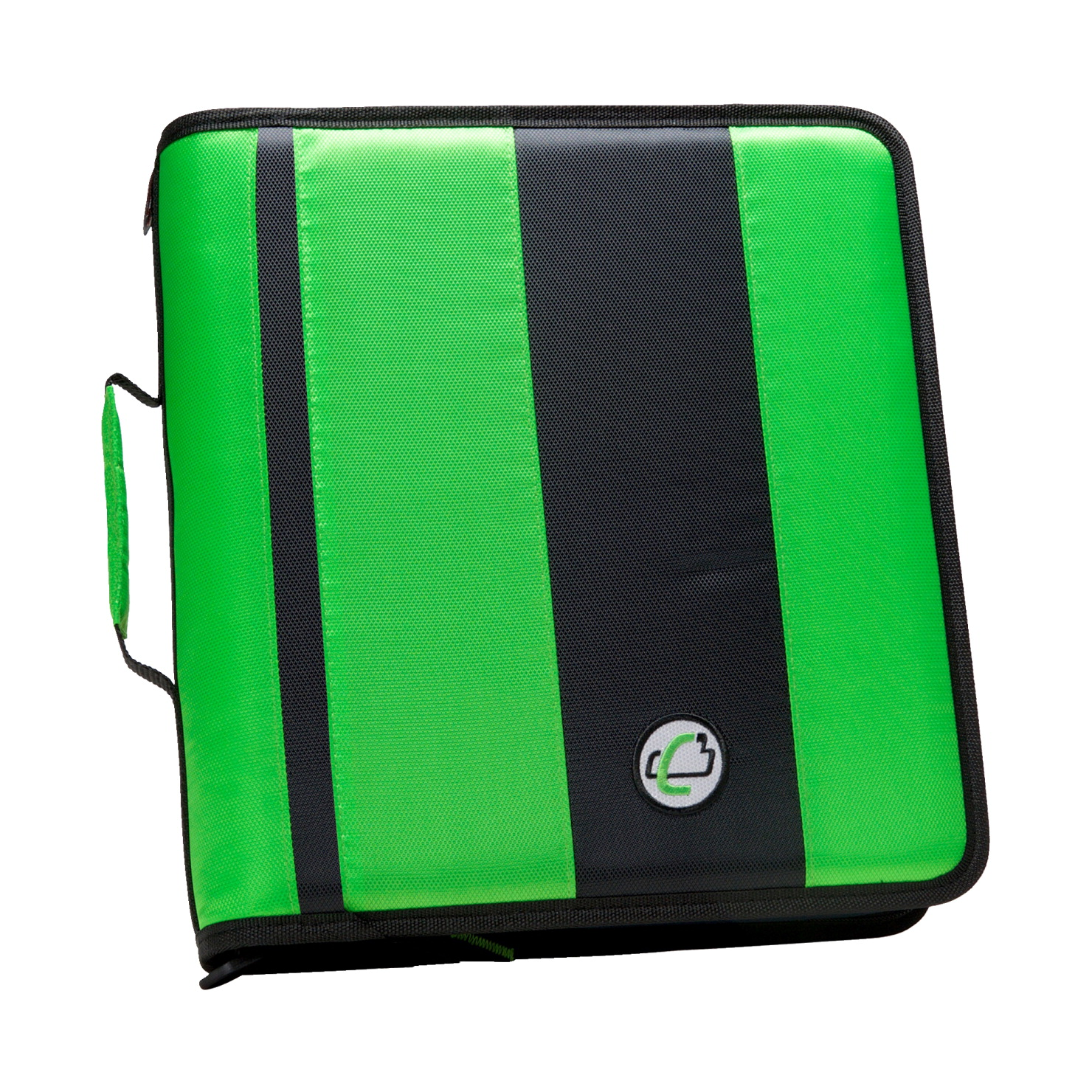 Case-It Classic O-Ring Zipper Binder, Green, 2 Inches