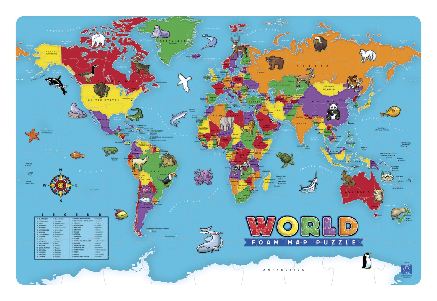 World Map Puzzle - SOAR Life Products