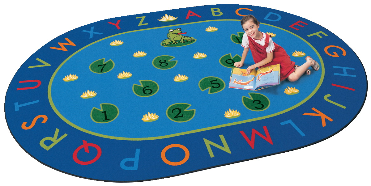 Carpets For Kids Hip Hop to the Top Rug, 6 Feet 9 Inches x 9 Feet 5 Inches, Oval