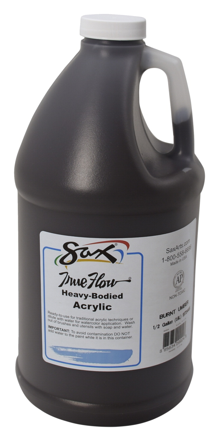 sax true flow heavy body acrylic paint 1 2 gallon burnt umber school specialty marketplace. Black Bedroom Furniture Sets. Home Design Ideas