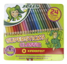 Jolly Supersticks Colored Pencil Tin, Assorted Colors, Set of 24