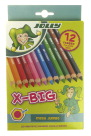 Jolly X-Big Jumbo Colored Pencils, Assorted Colors, Set of 12