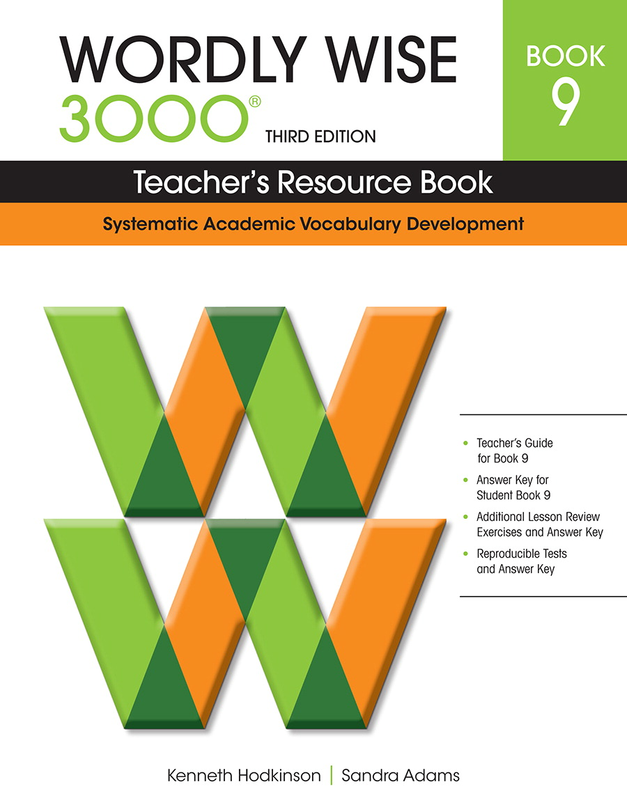 Teacher's Resource Book 9, Wordly Wise 3000 3rd edition ...