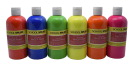 School Smart Washable Finger Paint, Assorted Neon, 16 oz., Set of 6