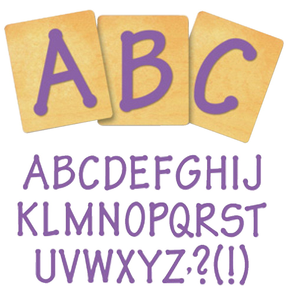 Ellison SureCut Die Set - Lollipop Alphabet, Capital Letters - 4 Inch