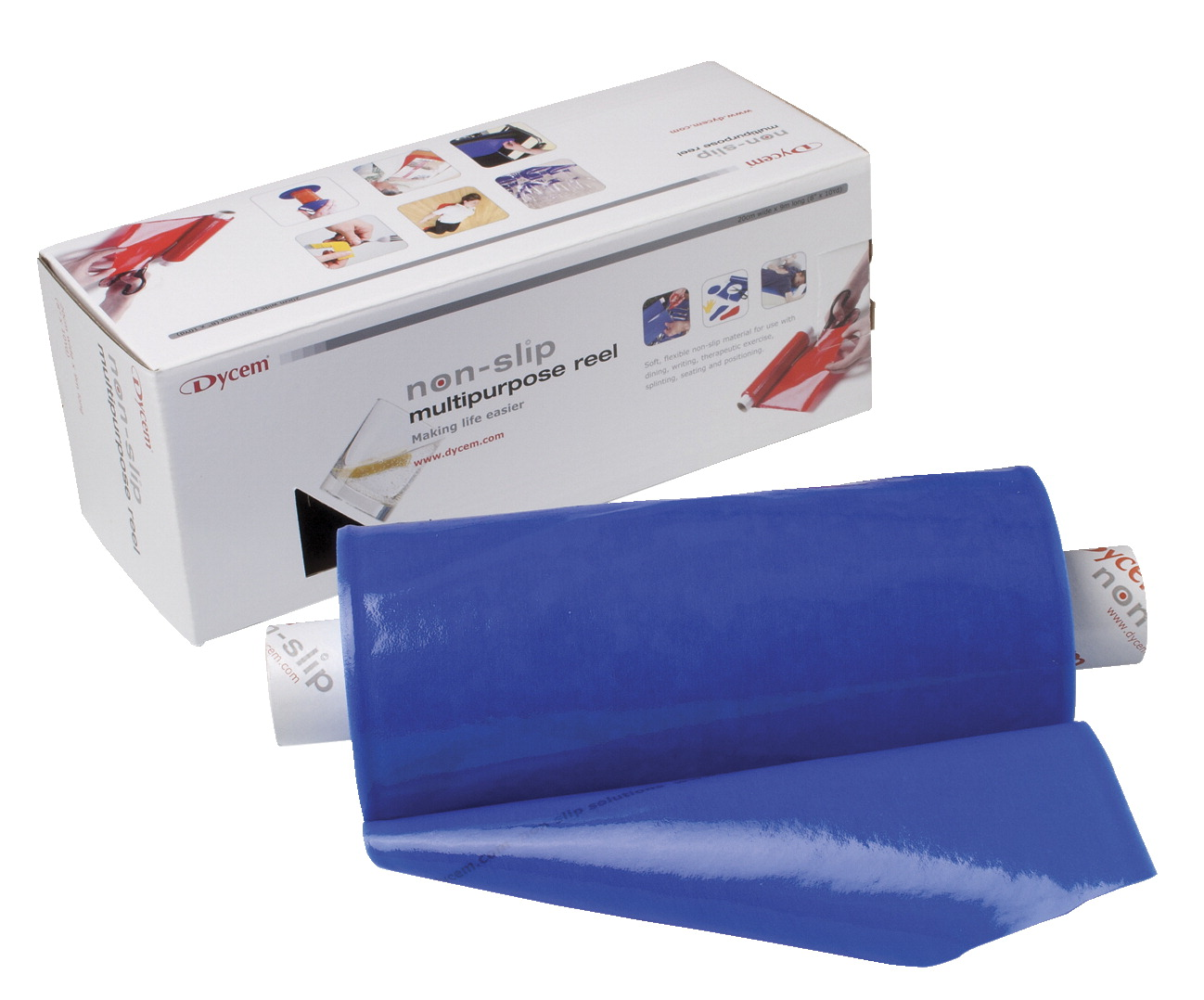 Dycem Non-Slip Material Roll, 8 Inches x 10 Yards, Blue