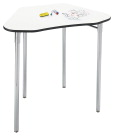 Classroom Select Collaboration Desk, with Markerboard Surface, Wire Book Rack and 22-33 Height Adj Legs