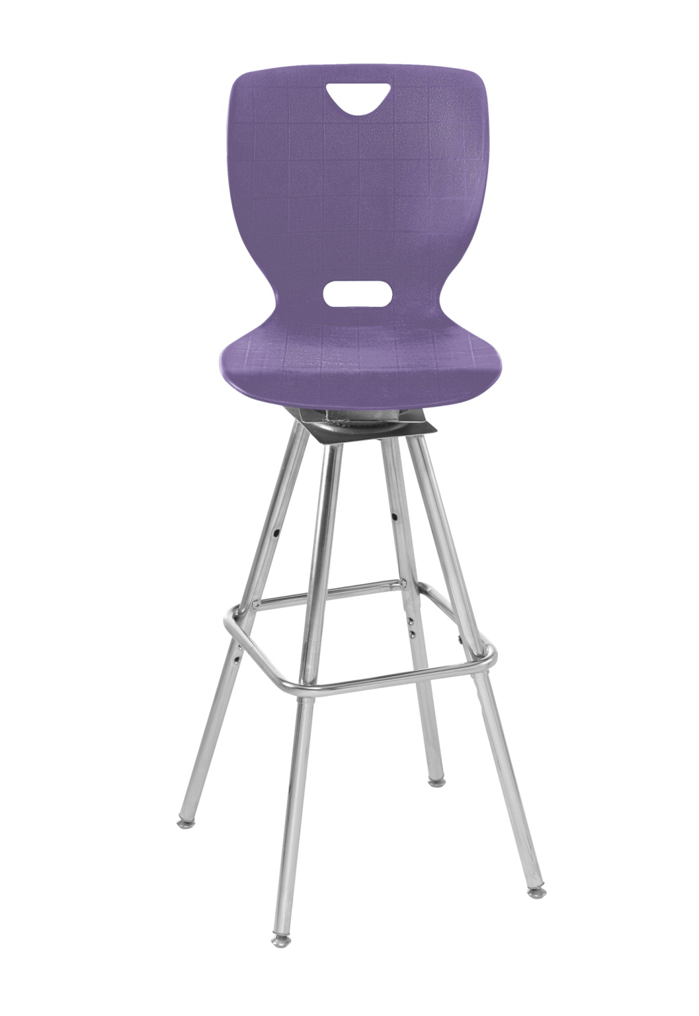 Classroom Select NeoClass Swivel Stool, 18 Inch A Shell Seat, Chrome Frame, Various Options