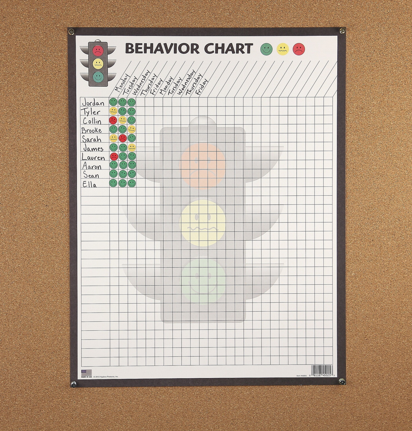 Hygloss Traffic Light Behavior Chart 17 x 22 inches