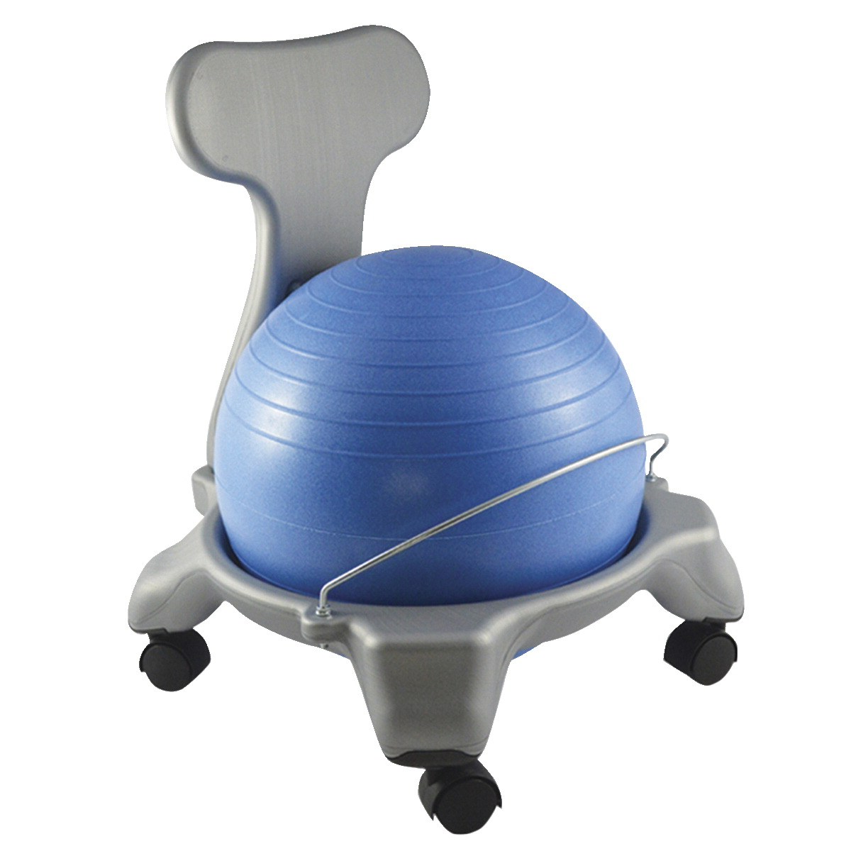 CanDo Ball Chair with Back, Plastic, Child Size, 15 Inch Ball