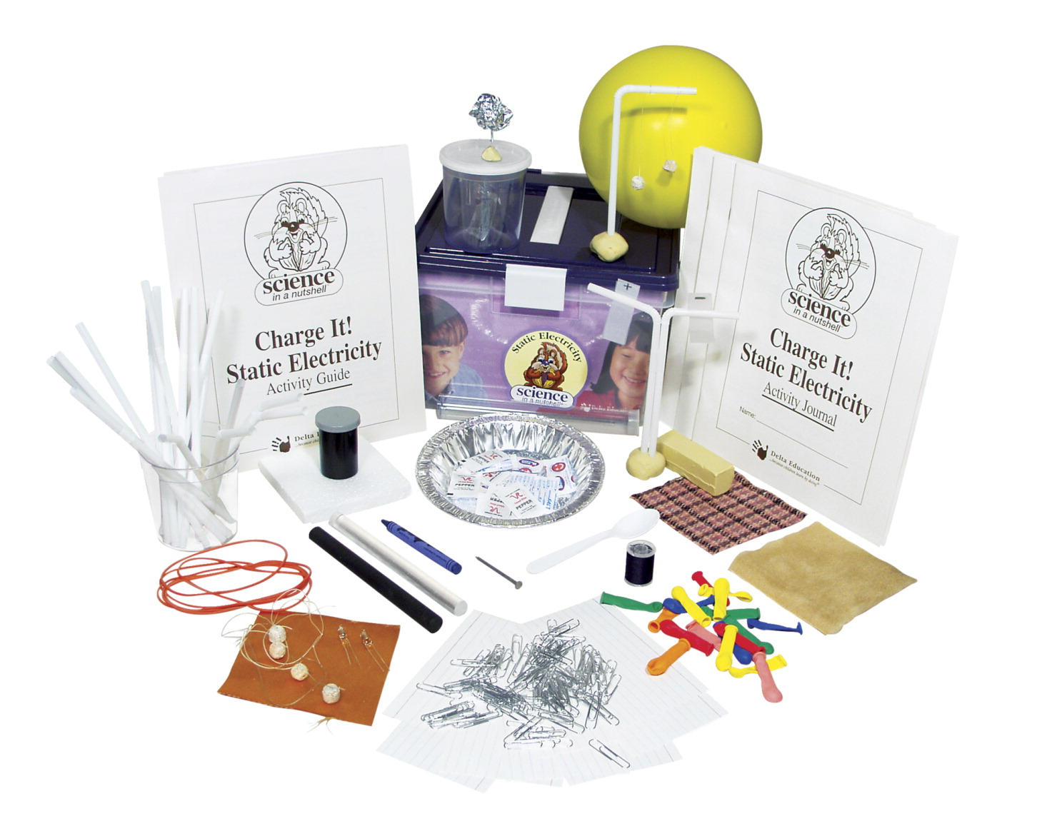 Science in a Nutshell Charge it! Static Electricity Kit