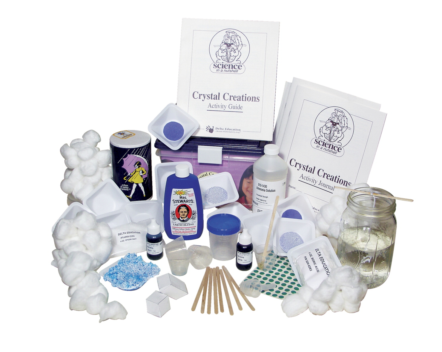 Delta Science in a Nutshell Crystal Creations Kit