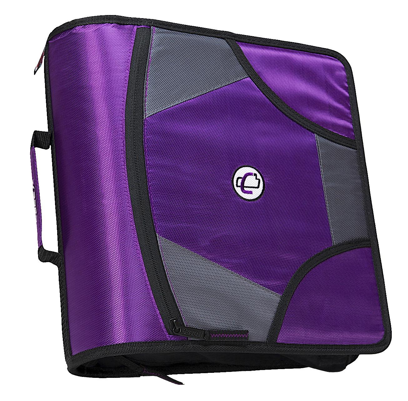 Case-It Zipper Binder, Purple
