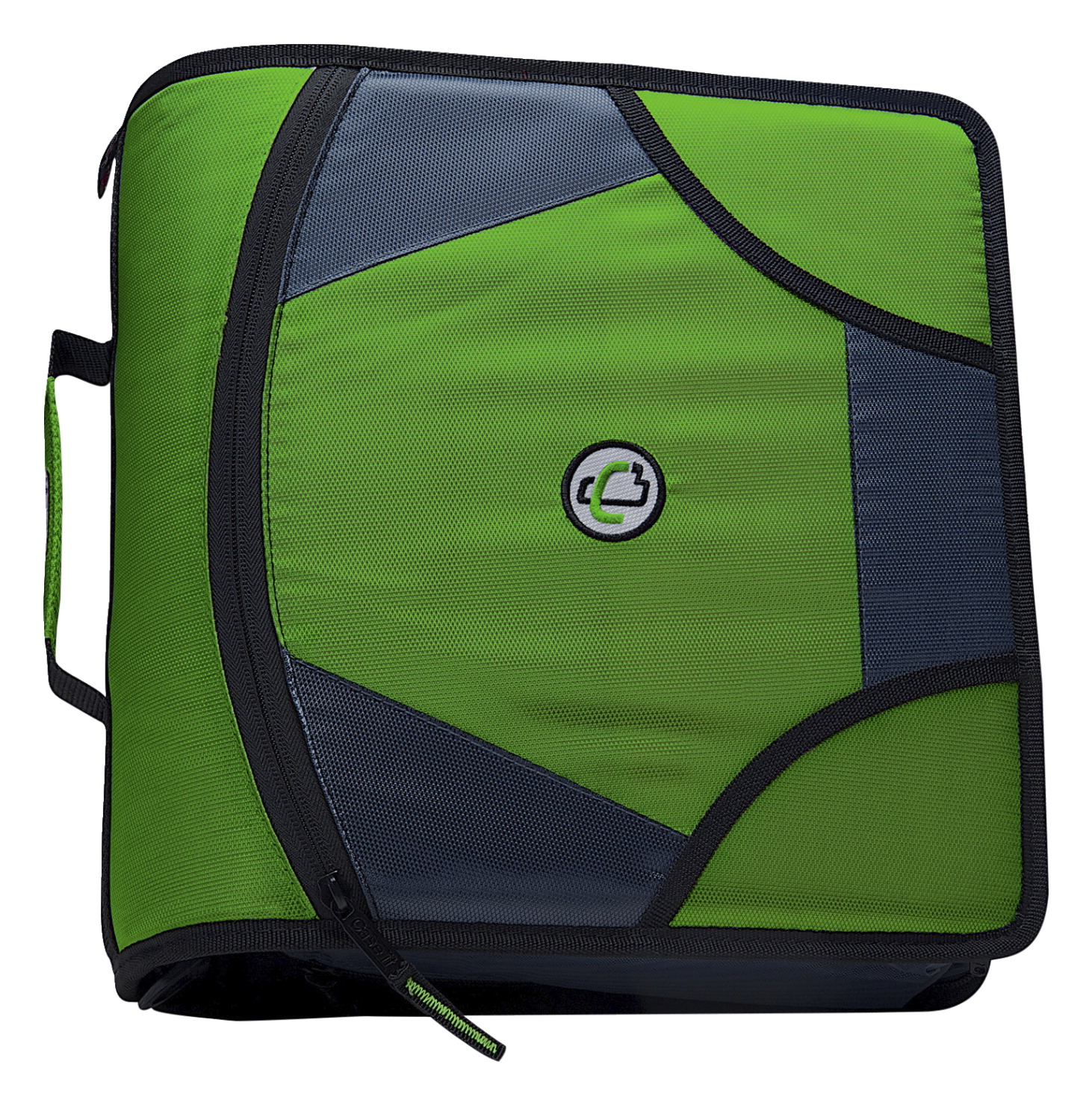 Case-It Zipper Binder, Green