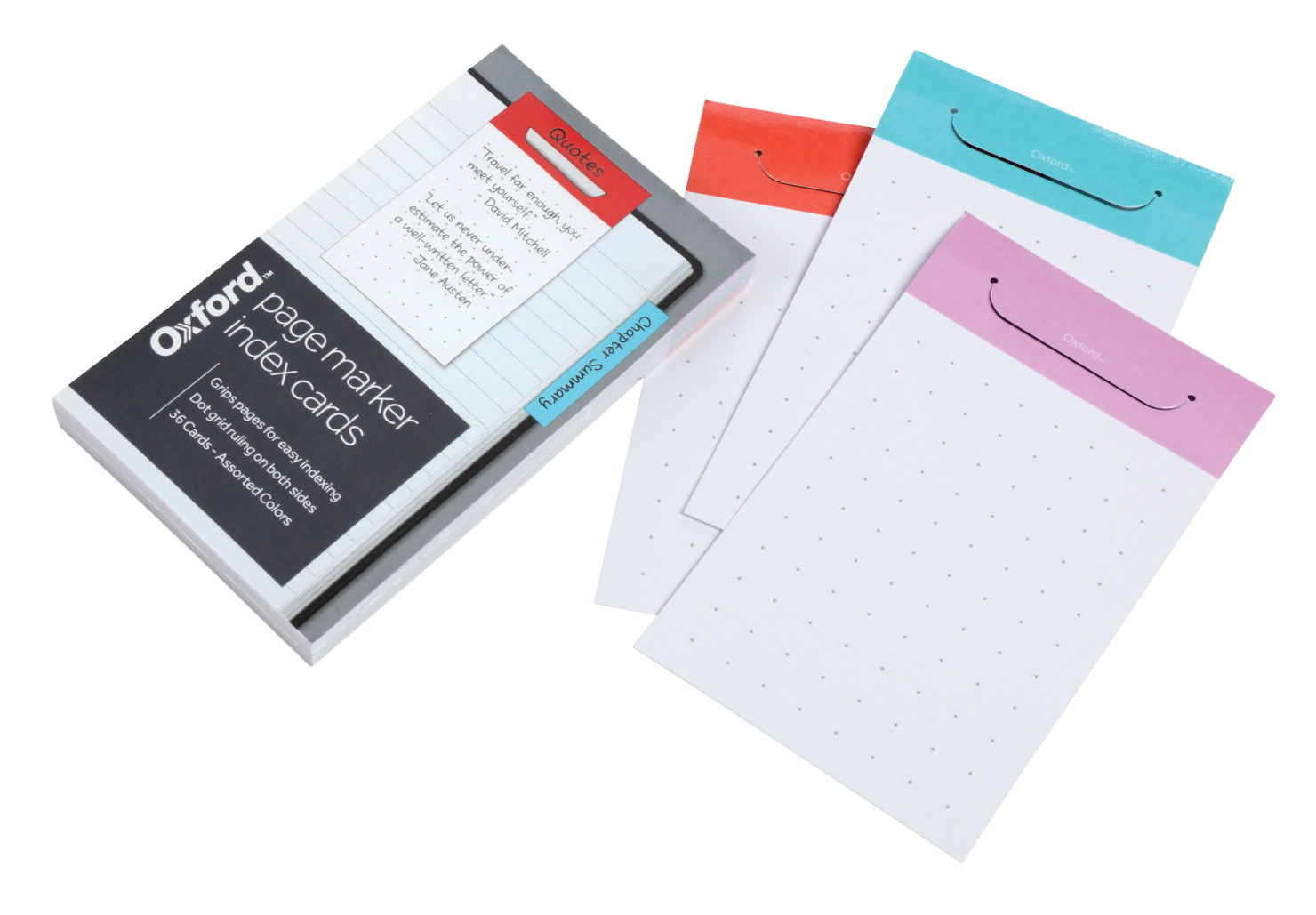 Oxford index card page marker white school specialty canada oxford at hand index card page marker 3 x 5 inches assorted colors reheart Choice Image