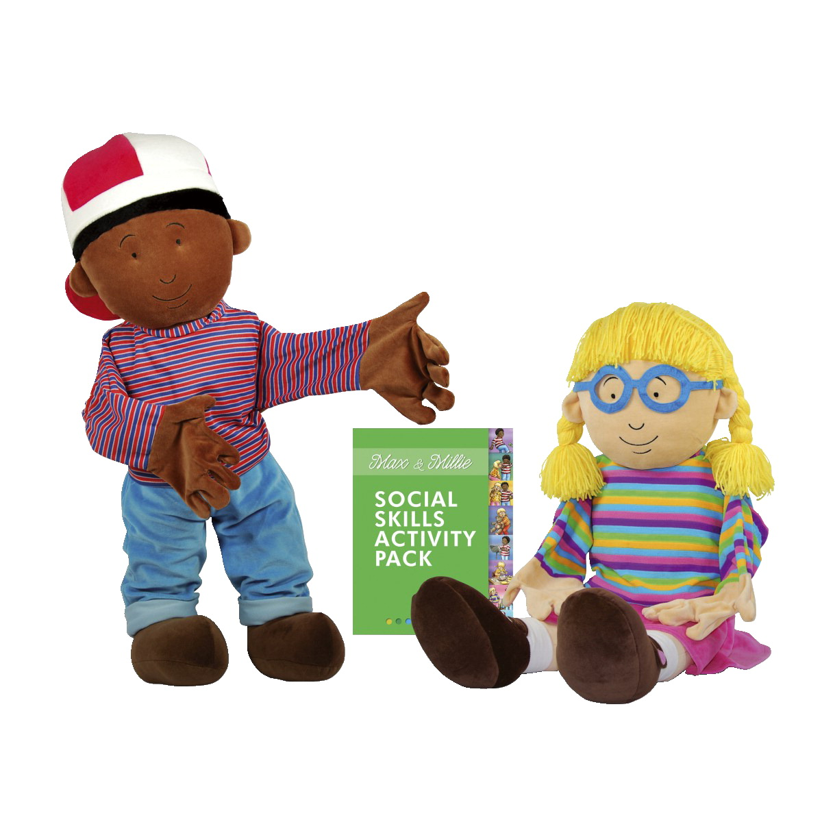 Robo Social Skills Max And Millie Puppets, Set  of 2
