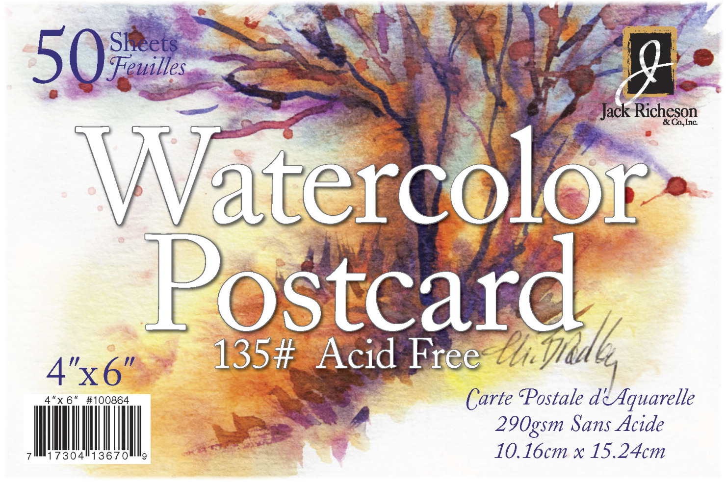 Jack Richeson 50 Pack / / 4 X / / 6 135# Watercolor Postcards