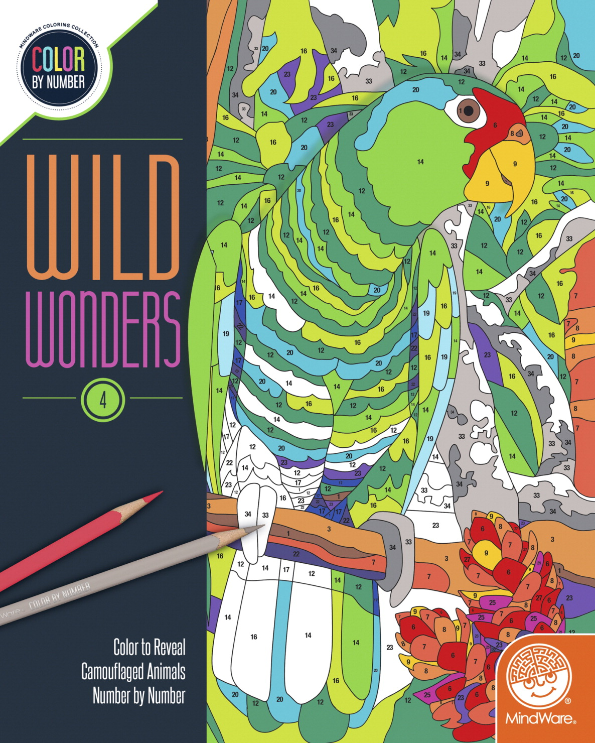 Mindware Color by Number Wild Wonders 4