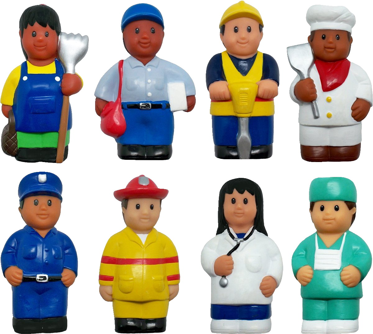 Get Ready Kids Career Figures, Multi-Ethnic, 5 Inches, Set of 8