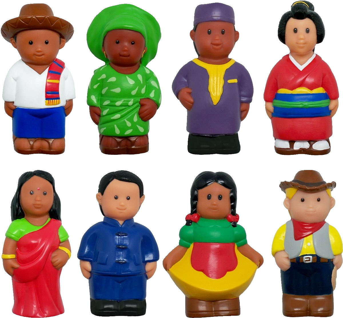 Get Ready Kids Around the World Figures, Multi-Ethnic, 5 Inches, Set of 8
