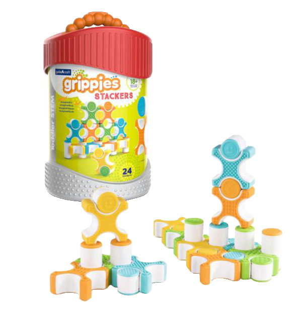 Guidecraft Grippies Stackers, 24 Pieces
