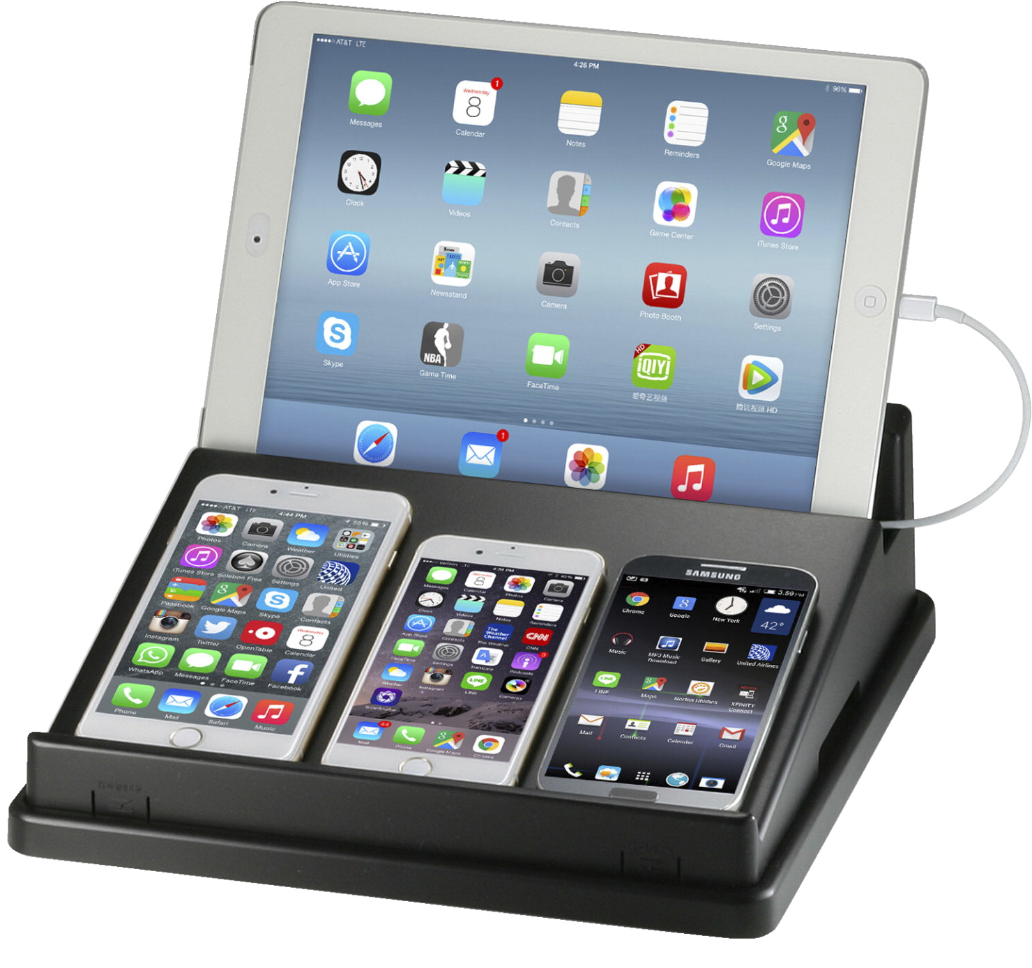 Officemate Oic Universal Multi Device Charging Station Black