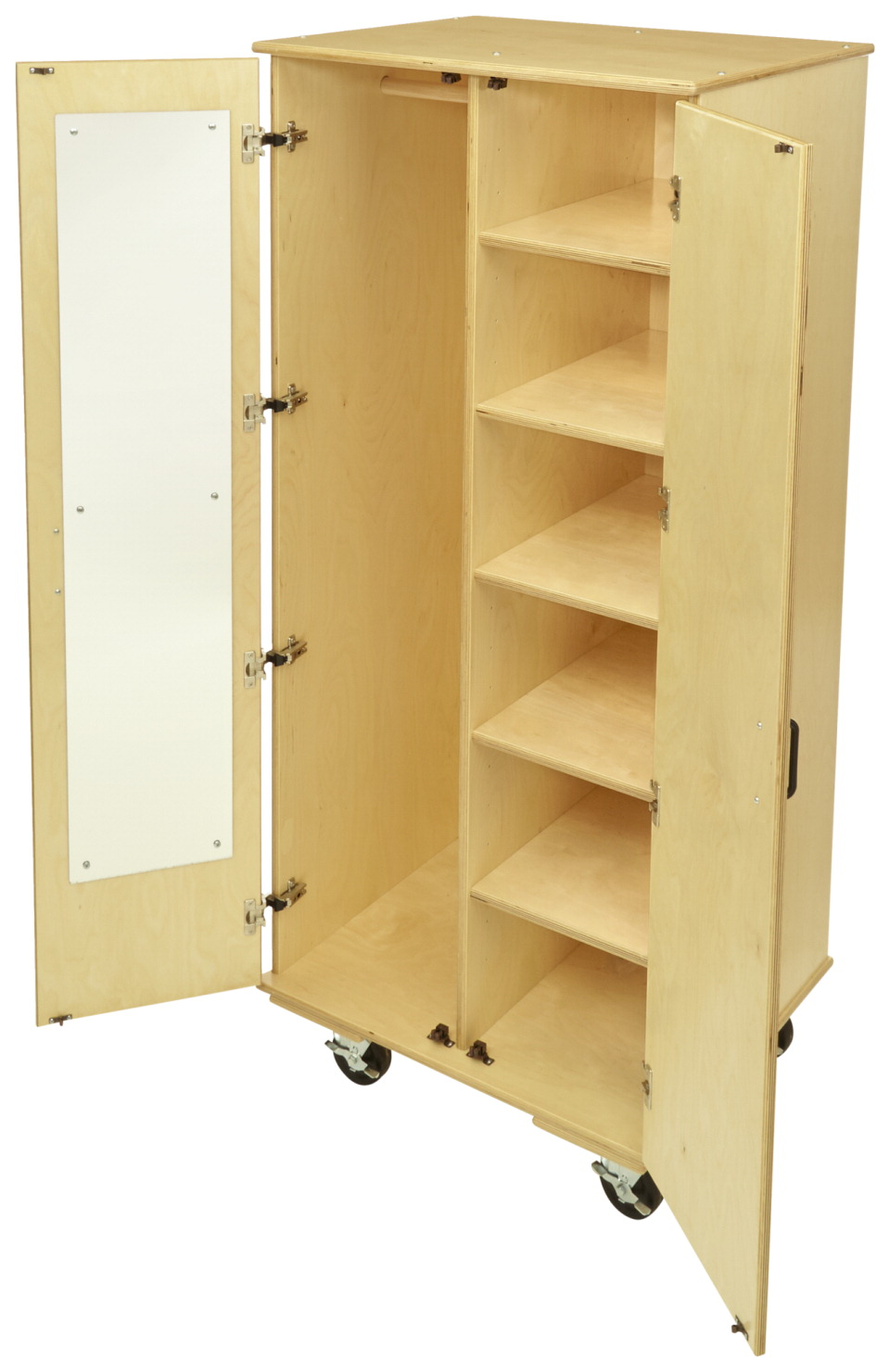 Classroom Select Small Mobile Storage with Adjustable Shelf/Closet, 29-1/2 x 24 x 66-3/4 Inches