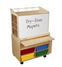 Childcraft Mobile STEAM Station with Assorted Color Trays, 35-3/4 x 23 x 55-5/8 Inches