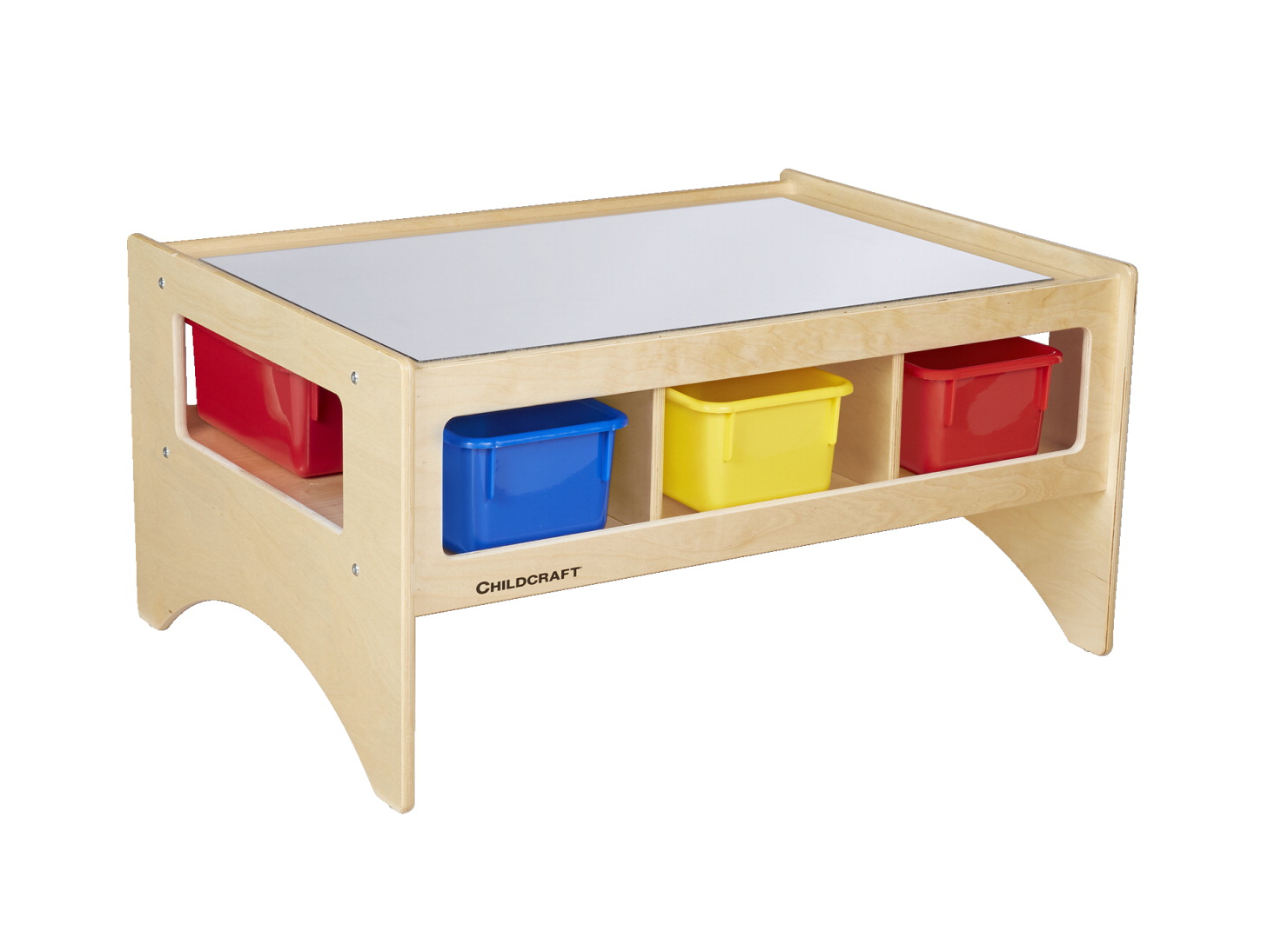 Childcraft Toddler Mirrortop Table with 6 Assorted Color Trays, 36 x 26 x 18 Inches