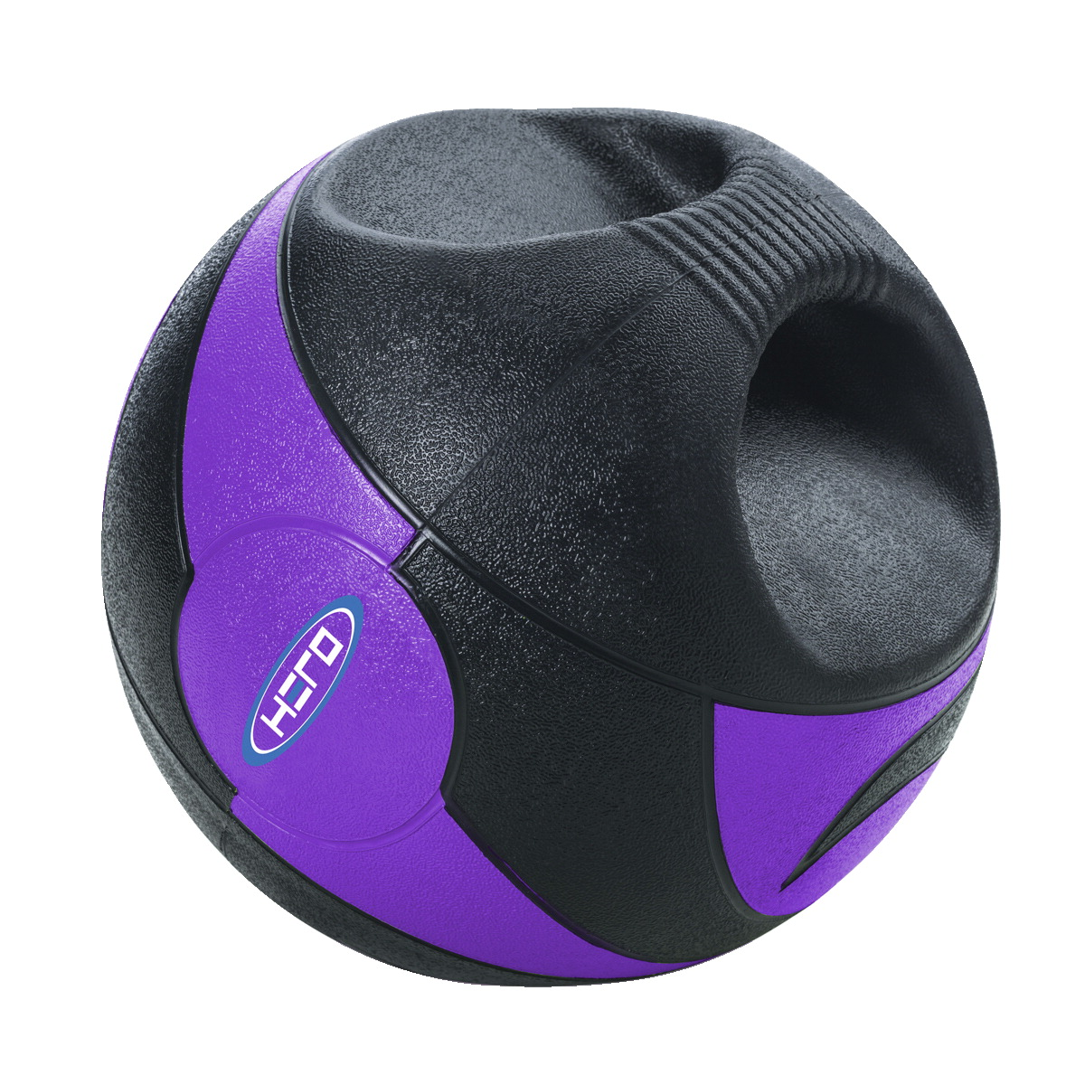 HERO Dual Handle Medicine Ball, 18 Pounds, Purple
