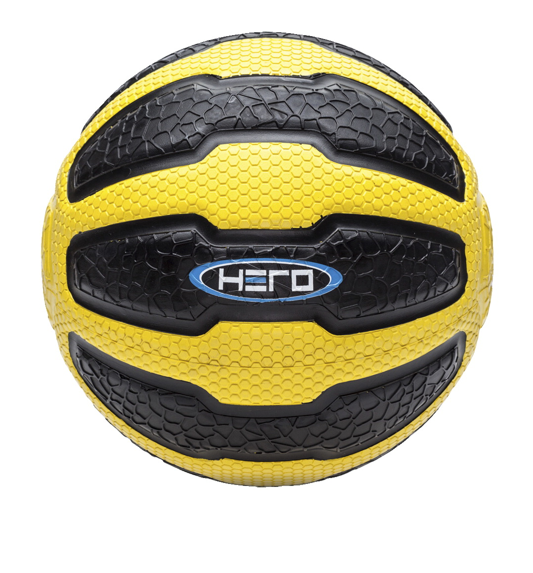 HERO Medicine Ball, 10 Pounds, Yellow