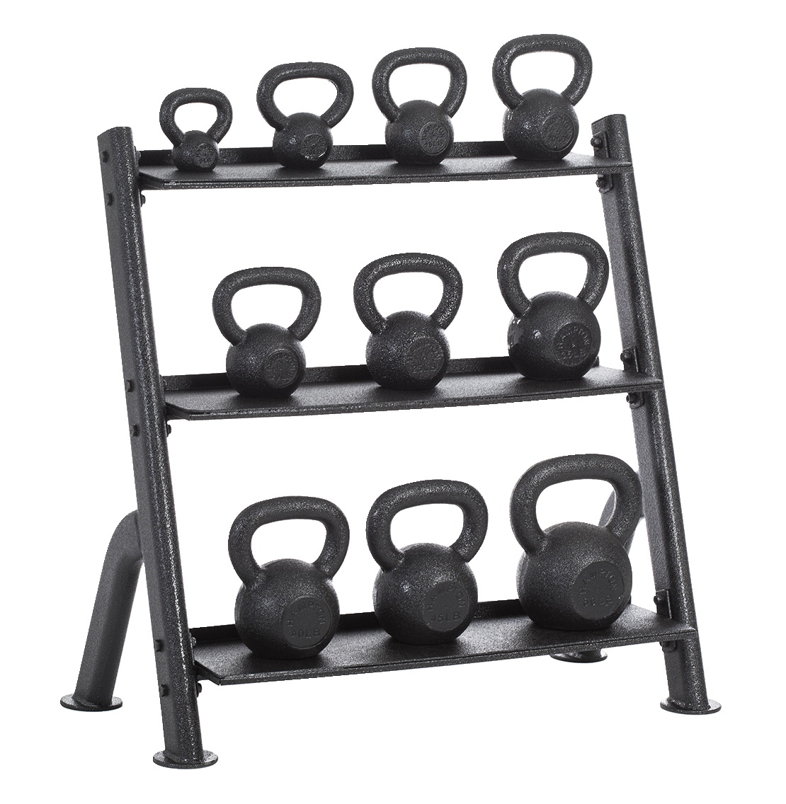 Hampton Fitness Urethane Coated KettleBells, Set of 10