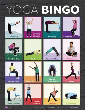 learning zonexpress yoga bingo cards  school specialty