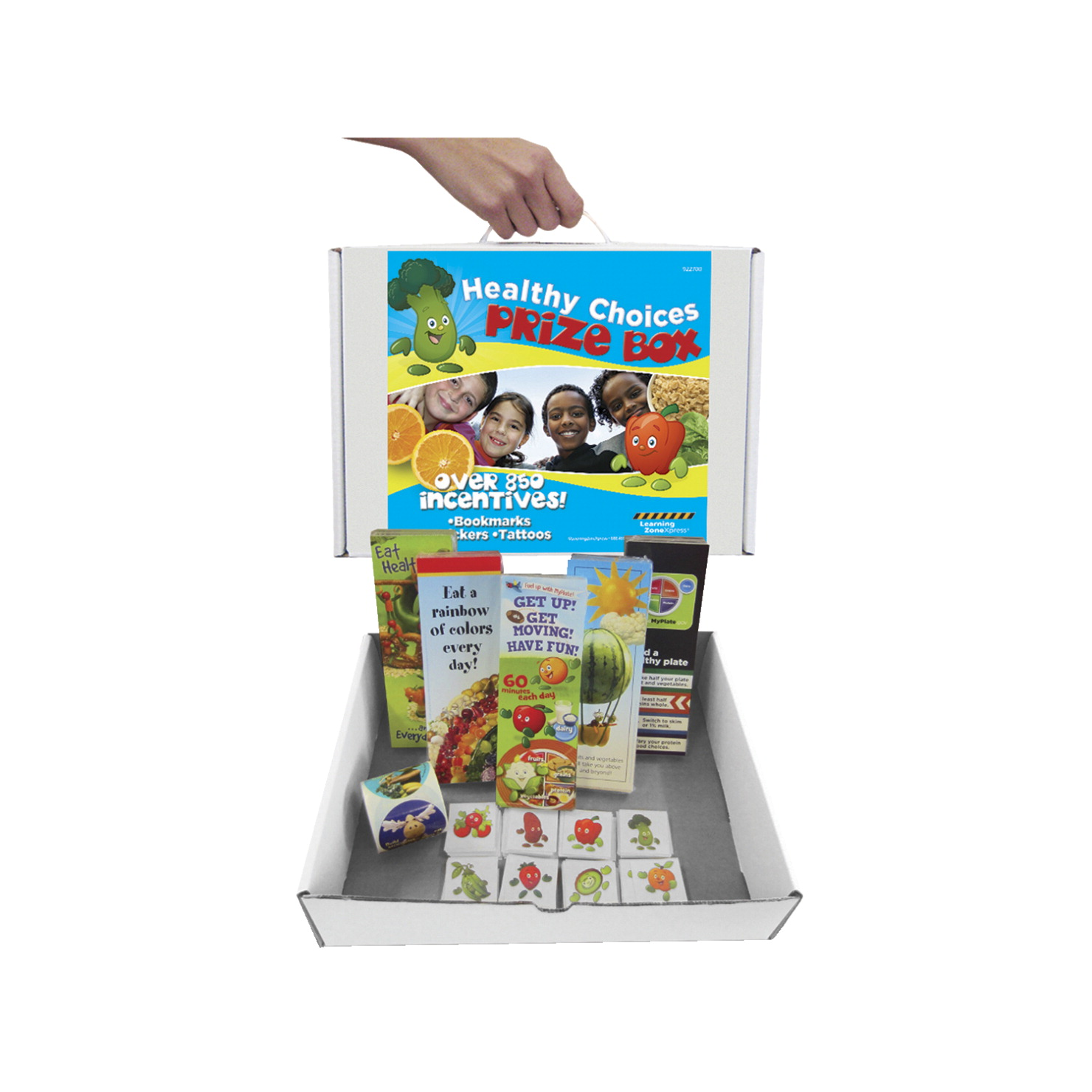 Learning ZoneXpress Healthy Choices Prize Box, 900 Pieces