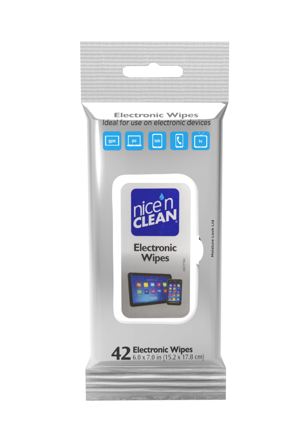 Nice 'N Clean Electronic Wipes, Pack of 42