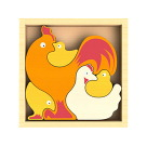 BeginAgain Toys Chicken Family Puzzle