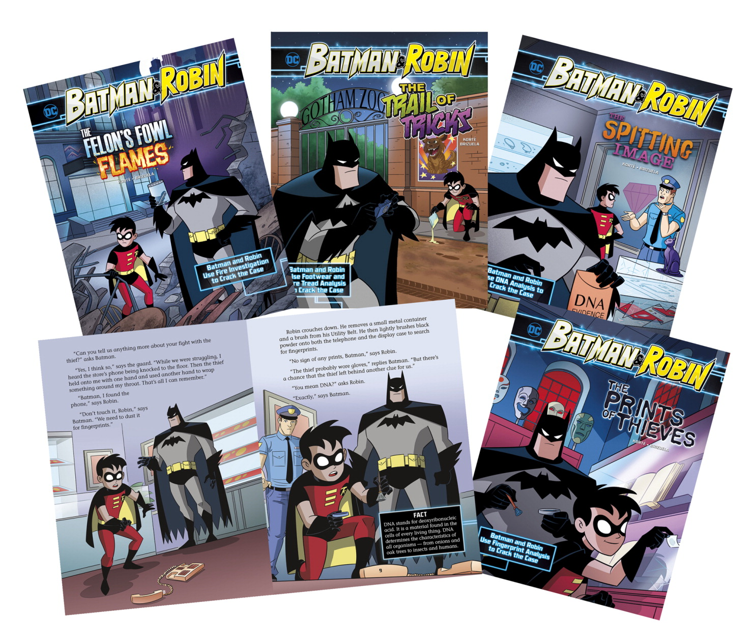 DC Comics Super Heroes Batman and Robin Crime Scene Investigations, Set of 4