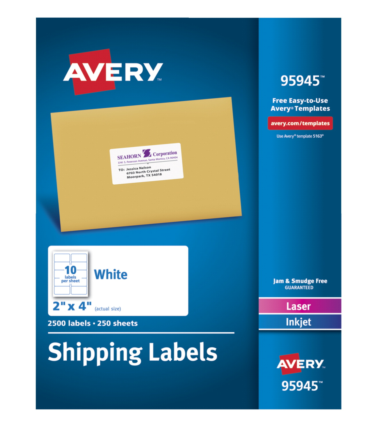 Avery 95945 shipping labels white school specialty for Avery large labels