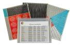 C-Line Playful Pops Zip 'N Go Poly Envelope, Letter, Assorted Designs, Set of 3