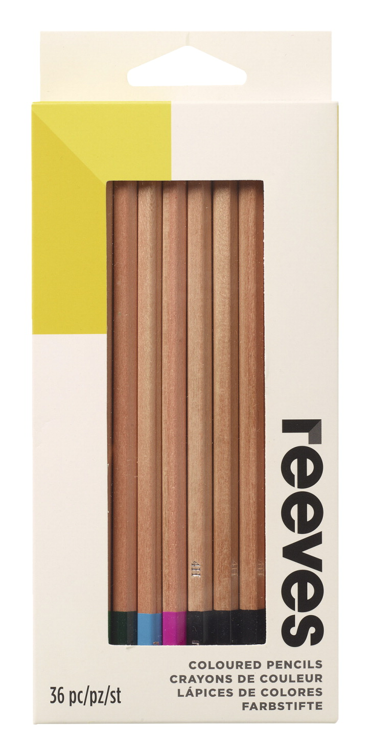 Reeves Premium Quality Colored Pencil, Assorted Colors, Set of 36