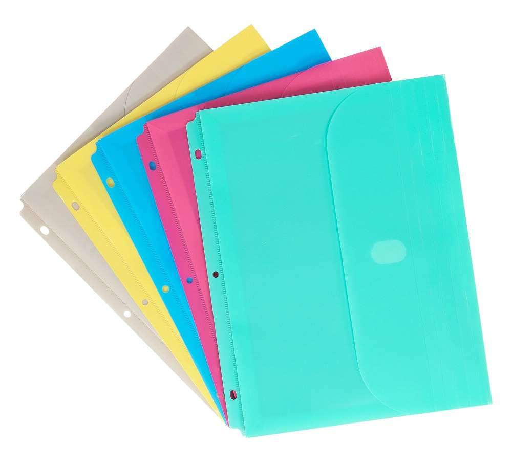 C Line Binder Pocket Assorted Colors School Specialty
