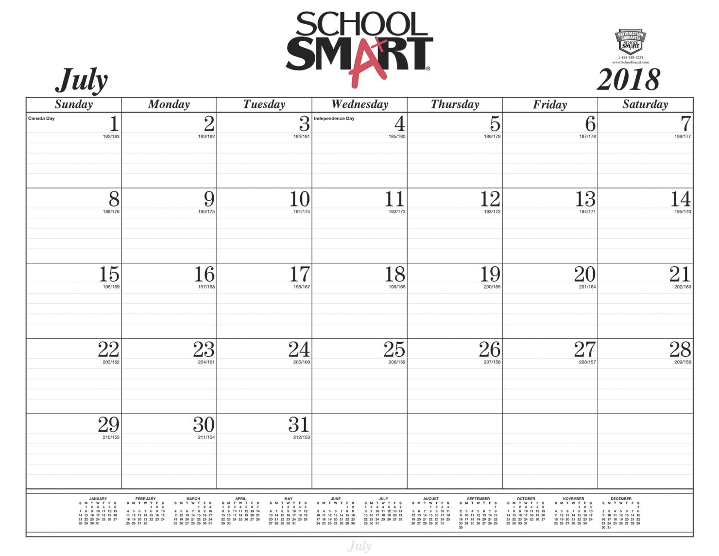 daily calendar august 2019