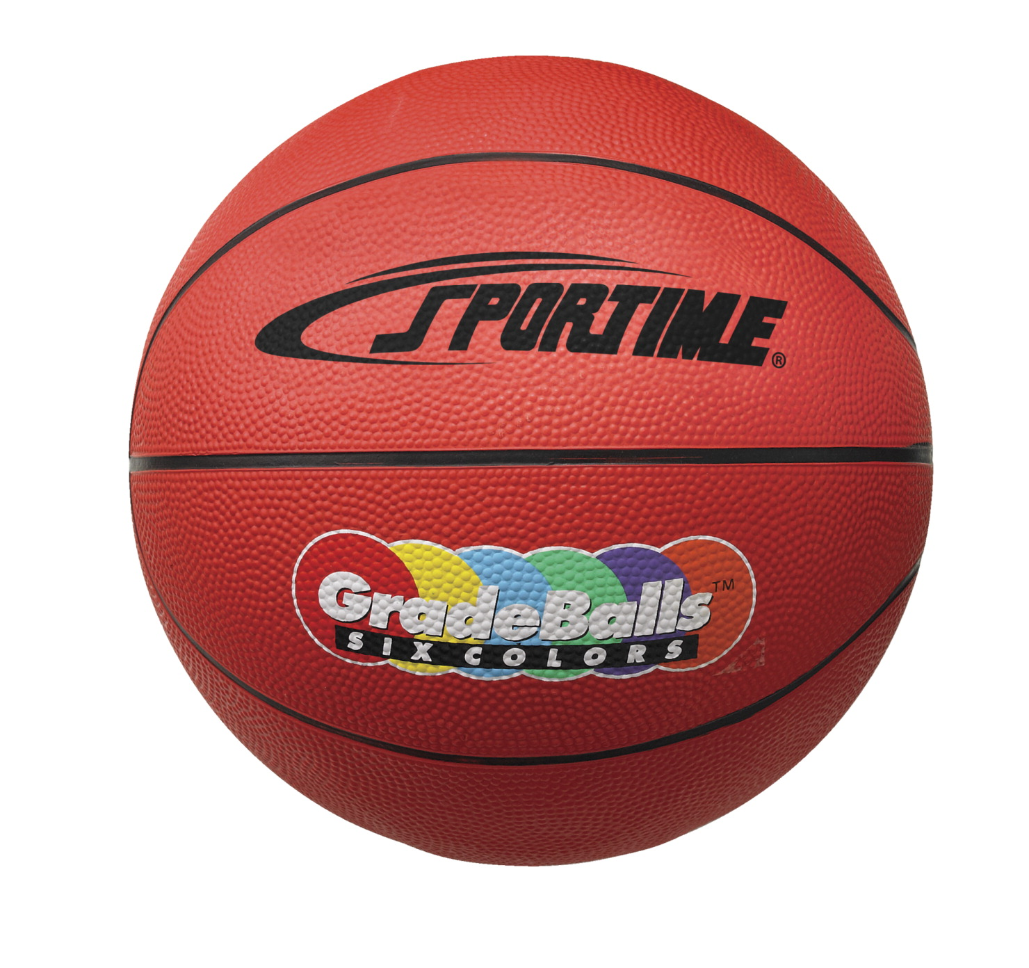 Sportime Gradeball Rubber MInchi Basketball, 11 Inches, Red