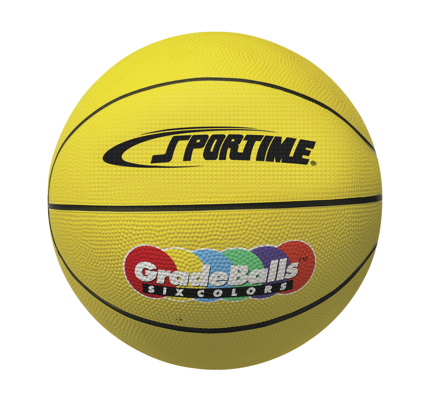 Sportime Gradeball Rubber MInchi Basketball, 11 Inches, Yellow