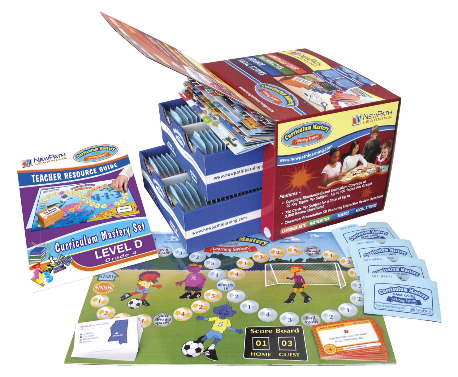 Newpath Curriculum Mastery Game Set, Grade 4