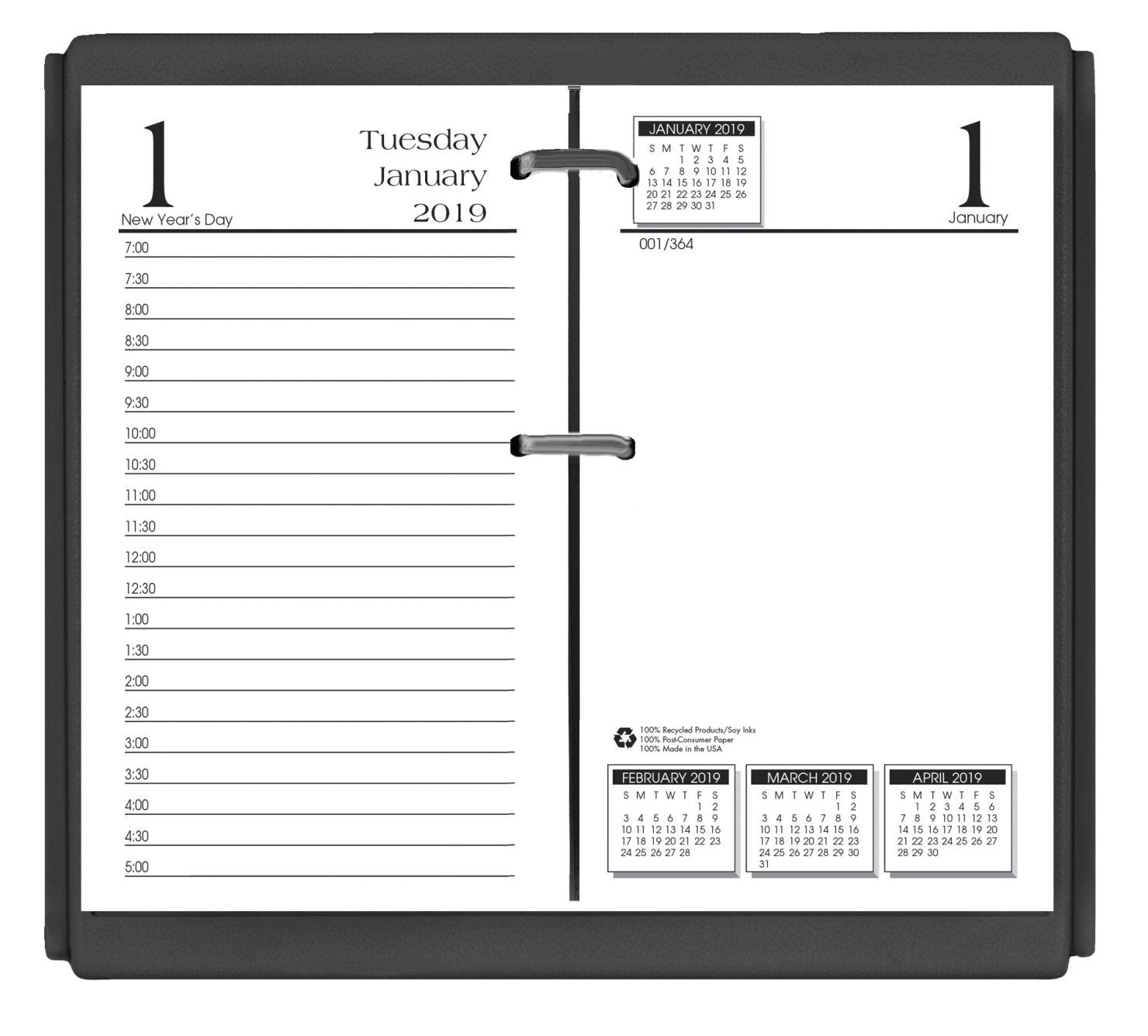 House of Doolittle 2019 Desk Calendar Refill Pages, 3-1/2 x 6 Inches