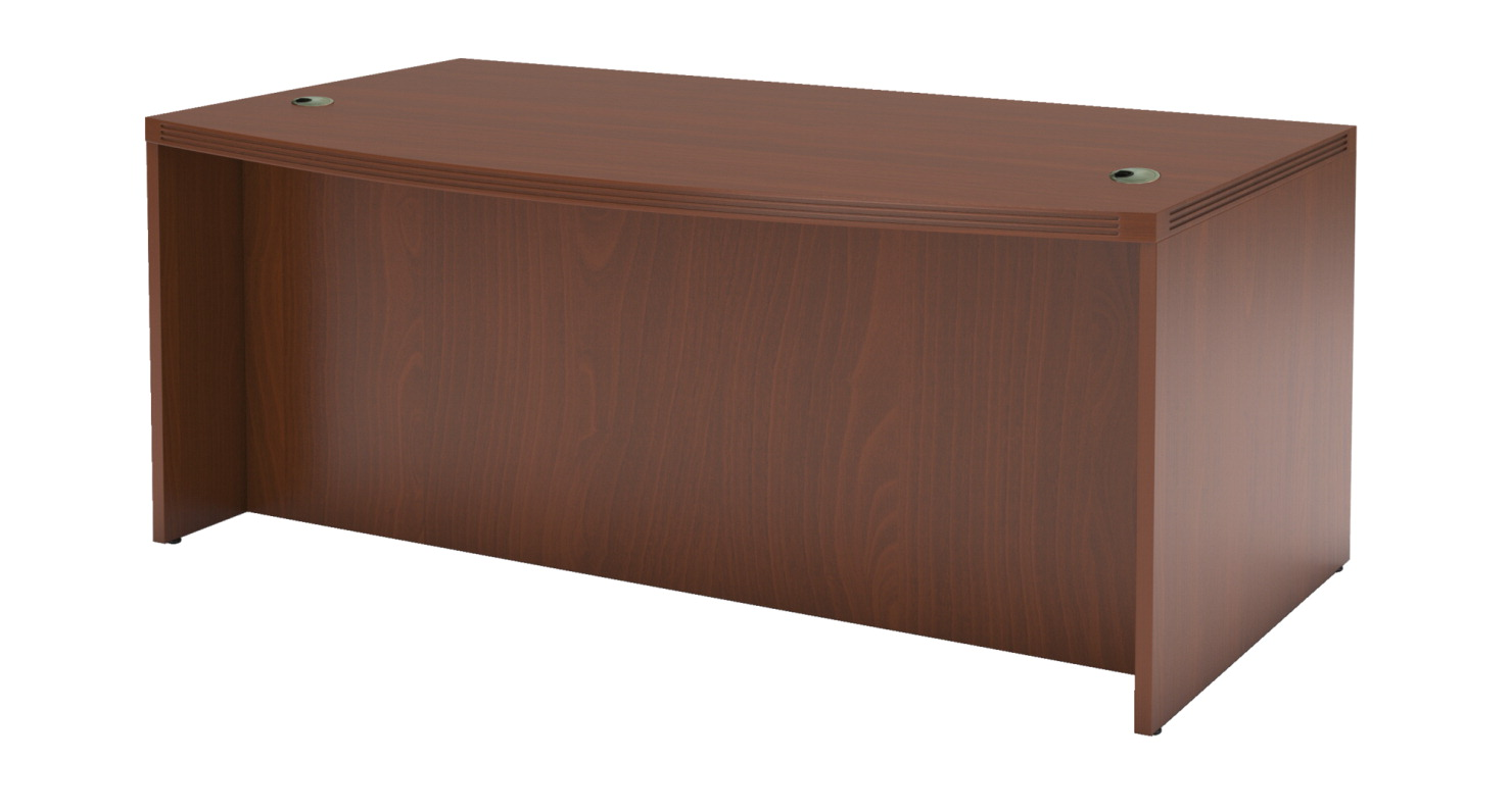 Mayline Aberdeen Bow Front Desk, 72 x 42 x 29-1/2 Inches, Various Options